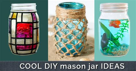 jar crafts diy cool cheap but cool diy wall ideas for your walls