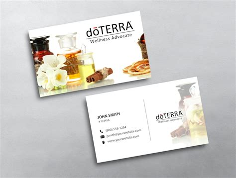 doterra business card template doterra business card 37