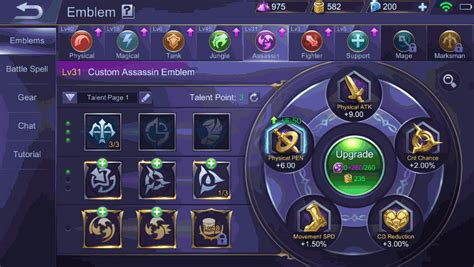 mobile legend update mobile legends update emblem system