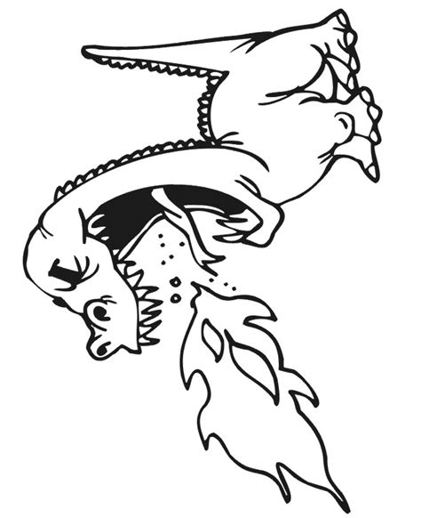 water and fire dragons coloring pages