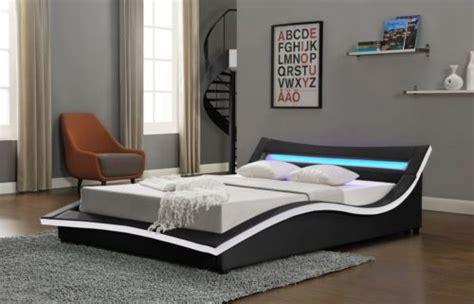 how to add lights to headboard modern designer bed led light headboard king