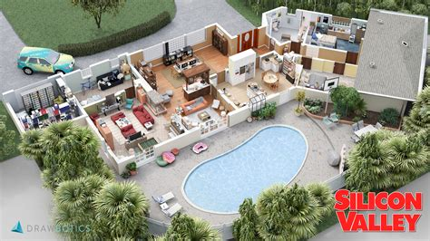 sitcom sets awesome 3d models of famous tv show sets