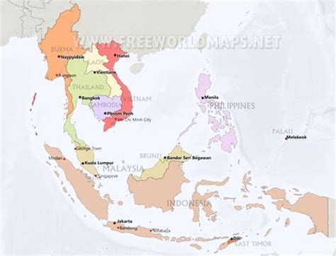 map of cities in asia southeast asia maps