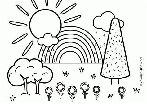 Coloring Pages Of Rainbows by Preschool Free Printable Coloring Pages Of Rainbows