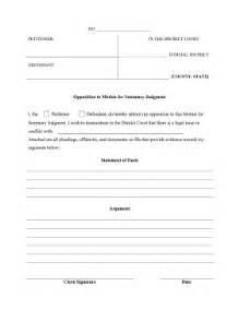 Motion For Summary Judgment Template by Printable Opposition To Motion For Summary Judgment
