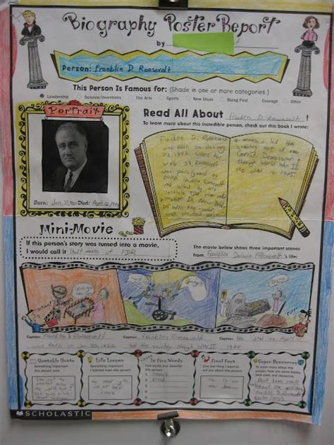elementary book report ideas great for common biography report geared towards