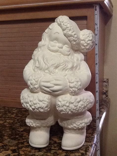 ceramic bisque large winking santa u paint ready to