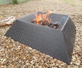 Small Fire Pit For Patios How To Make A Cool And Compact Fire Pit From Half A Sheet