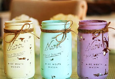 Cheap And Easy Diy Home Decor by Mason Jar Crafts How To Chalk Paint Your Mason Jars