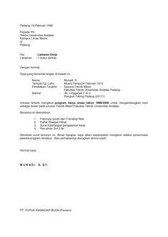 surat lamaran kerja sales ben contoh lamaran kerja dan cv