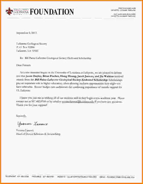 Scholarship Award Letter To 10 Scholarship Award Letter Letter Template Word
