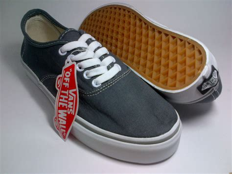 Sepatu Vans vans authentic grey shoes shop id