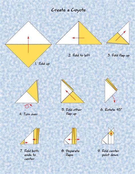 Origami Storytelling - coyote origami