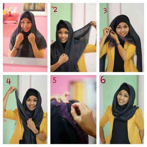 Tutorial Hijab Yang Simple Tapi Bagus | 25 kreasi tutorial hijab segi empat simple terbaru 2018