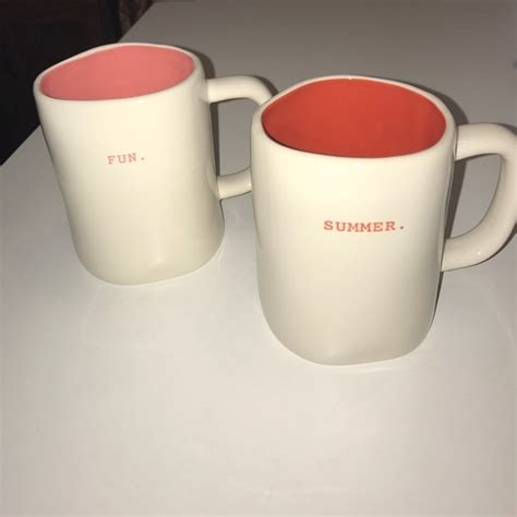 rae dunn mugs 29 off rae dunn other new rae dunn quot fun quot and quot summer