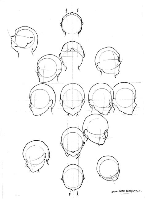 how to draw heads at different angles up drawing