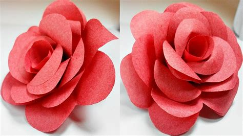 Paper Flower At Home - how to make easy paper roses flowers at home diy
