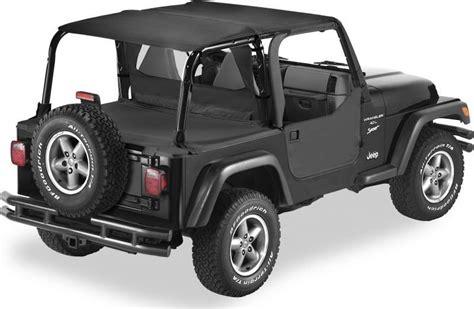 Different Jeep Tops Bestop 174 Ftop Blk Safari Header Combo In Black For 97 02