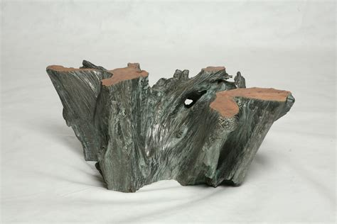 Custom Made Silver Covered Tree Trunk Coffee Table By Jose Coffee Table Made From Tree Trunk
