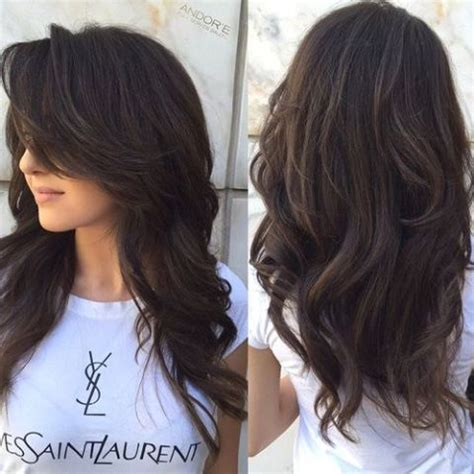 pics of hair with vertical layers 25 best ideas about brunette long layers on pinterest