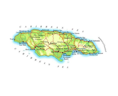 map usa and jamaica maps of jamaica detailed map of jamaica in