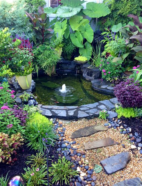 how to make a water garden in a container beautiful outdoor water garden flowers gardening ideas