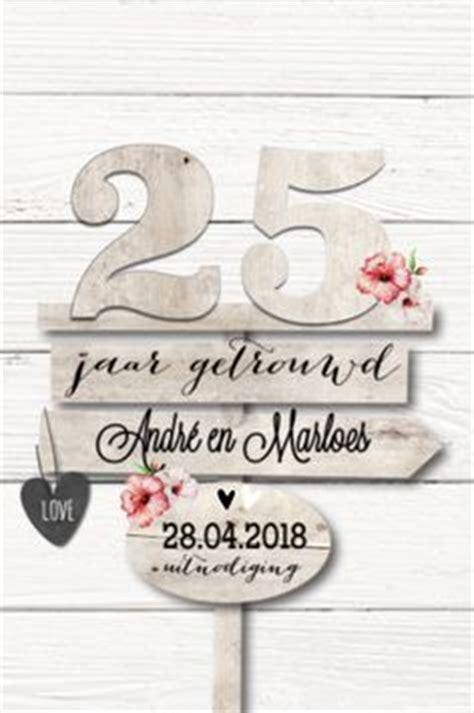 25 jaar getrouwd recept houten uitnodiging 12 5 jaar jubileum feest 12 5 jaar