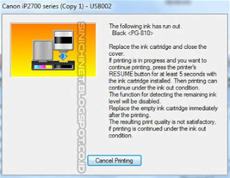 reset printer canon ip2770 berkedip printer canon ip2770 cara mengatasi the following ink