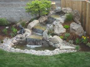 Landscape design advice creating natural waterfall in your garden