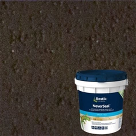 bostik neverseal charcoal gray pre mixed commercial grade grout 9lb 100077601 floor and decor