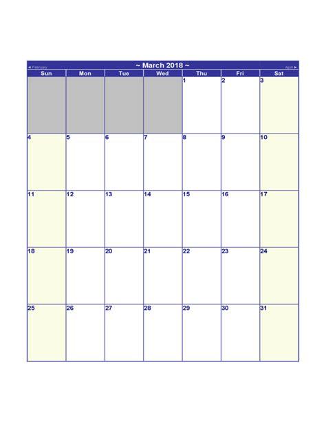 Blank Calendar 2018 2018 Blank Calendar Free