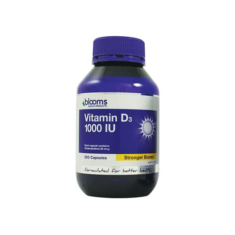 Blackmores Vitamin D3 1000 Iu 200 Capsul blooms health products vitamin d3 1000iu