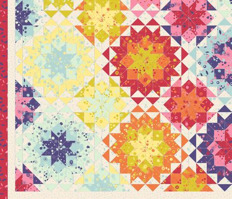Quilt Cheater Fabric by 2 Yards Floral Cheater Quilt Fabric Analinea Spoonflower