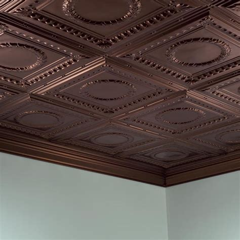 Ceiling Tiles - fasade ceiling tile 2x4 direct apply rosette in rubbed