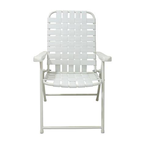 steel patio chair shop garden treasures white steel folding patio
