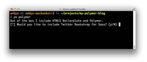 yeoman tutorial bootstrap building web apps with yeoman and polymer scaffold your