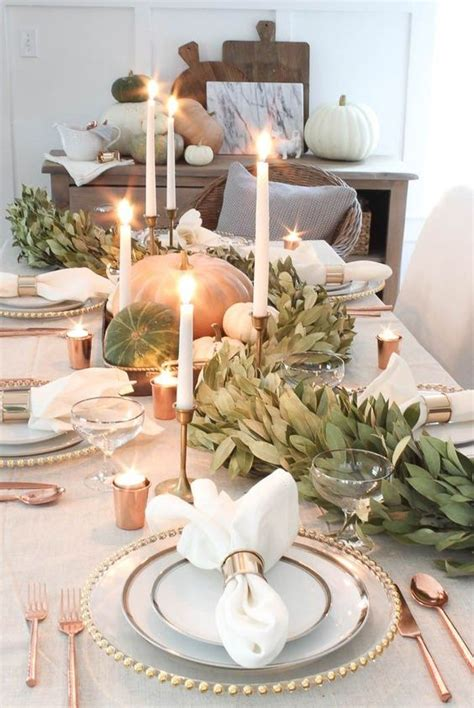15 modern thanksgiving tablescape ideas shelterness