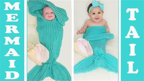 mermaid cocoon knitting pattern pt 1 glama s 2 in 1 loom knit mermaid cocoon blanket