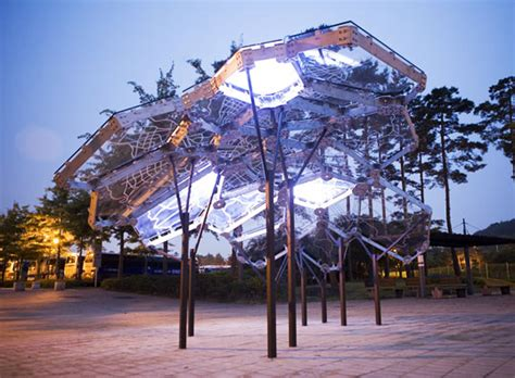 environmental lighting for architecture living light sculpture maps seoul s air quality