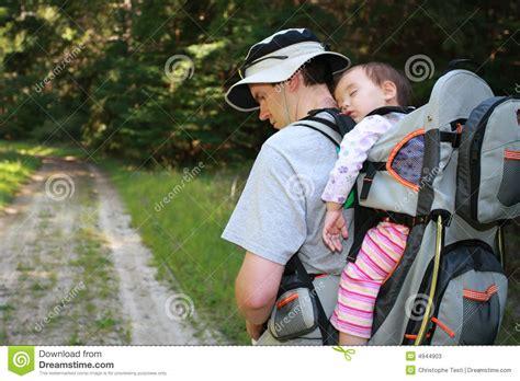 Hekeng Babi hiking with baby stock photos image 4944903