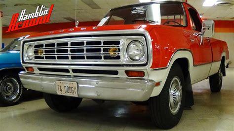 dodge fargo d 100 1963 taringa 1974 dodge d200 pickup all original survivor youtube