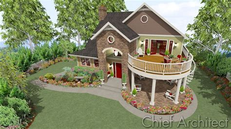 2nd floor veranda design chief architect home design software sles gallery