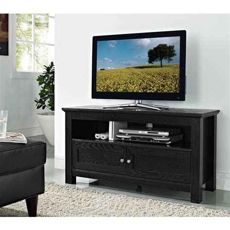 tv stands sauder edge water tv stand for tvs up to 45 quot estate black walmart