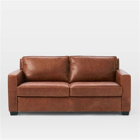 henry leather sectional west elm henry leather sofa memsaheb net