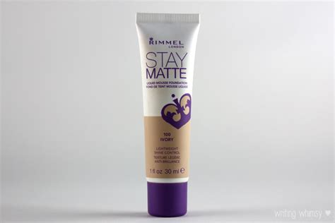 Rimmel Stay Matte Foundation rimmel stay matte liquid mousse foundation in ivory