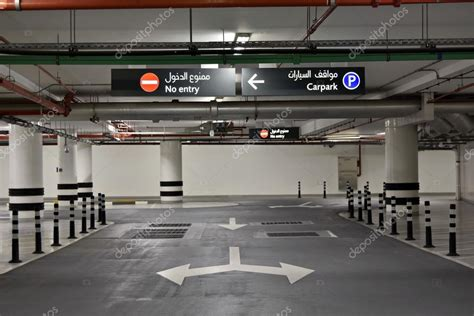Free Garage Plans And Designs at the basement parking carpark with signboard and