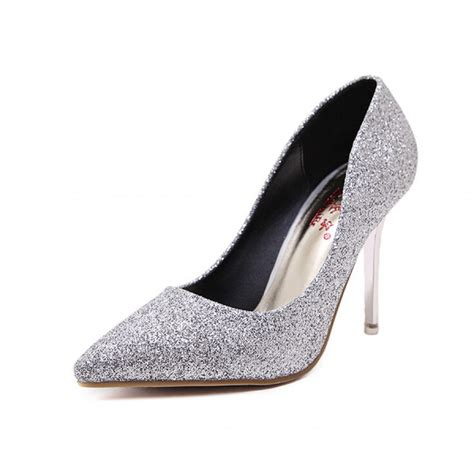 silver pointed toe high heels silver glitter pointed toe stiletto heels