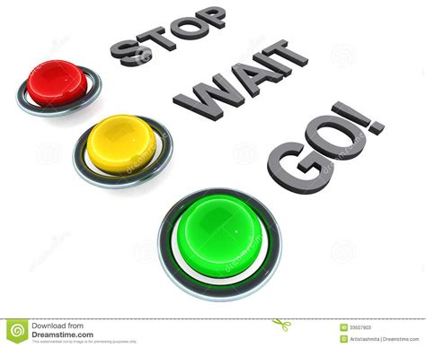 red yellow green light stop wait go stock photos image 33507903