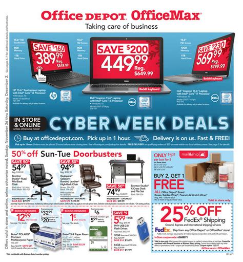 cyber monday office desk deals office depot and officemax black friday 2017 ad deals