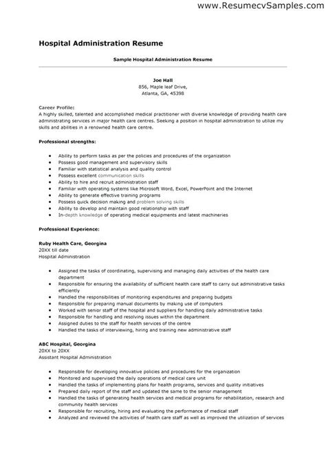 Healthcare Administration Resume by Resume For Healthcare Administration Epic Healthcare